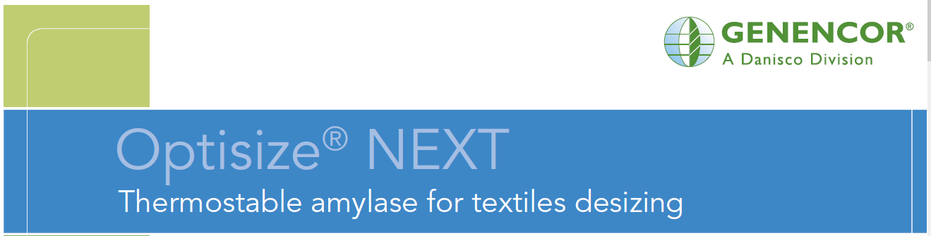 Optisize NEXT Thermostable amylase for textiles desizing